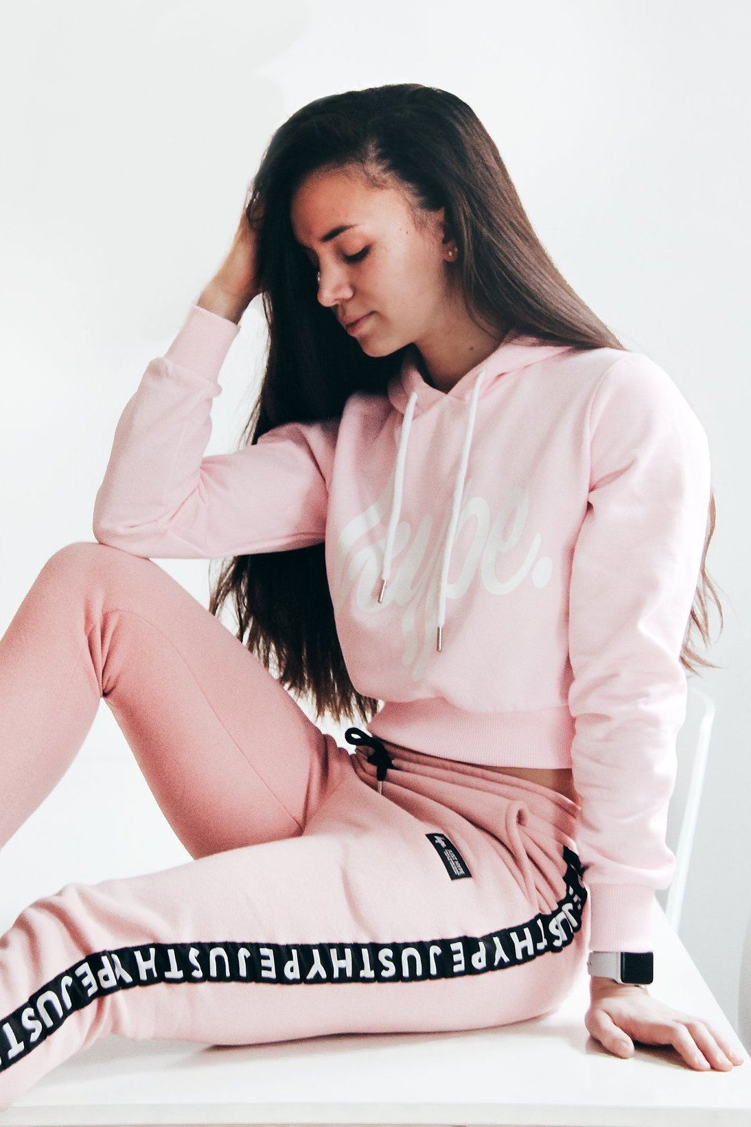 products-hype-pinkwhite-hype-script-womens-crop-hoodie-hype