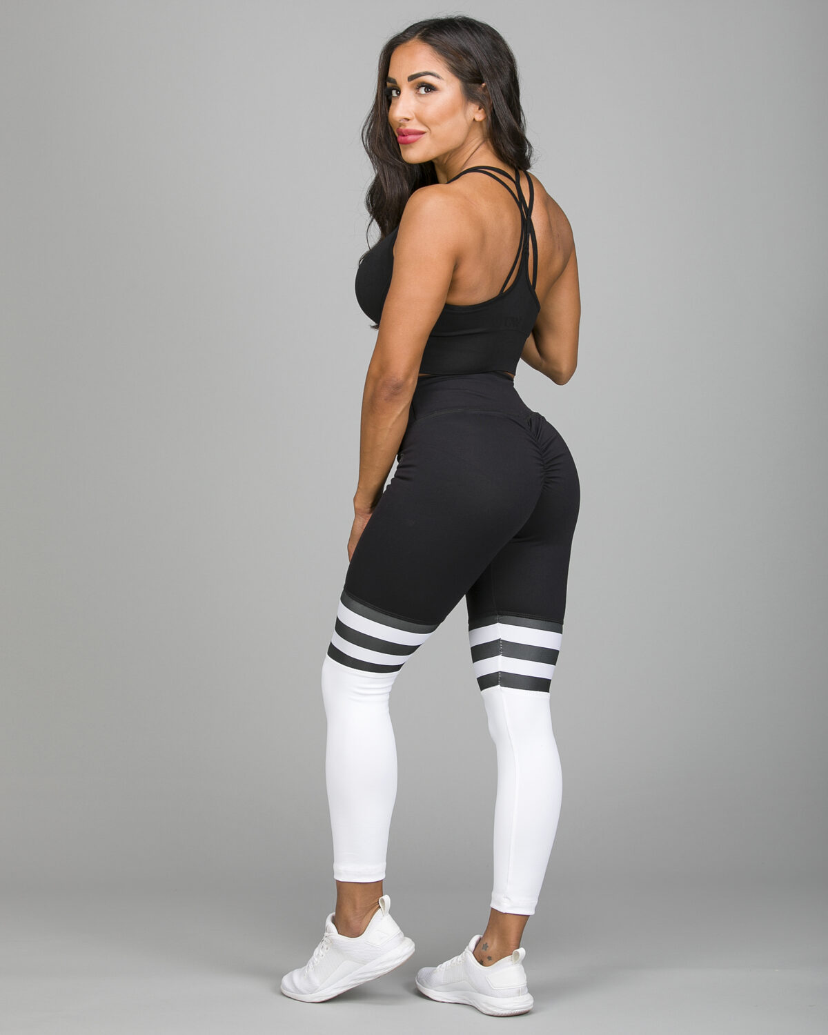 ABS2B-Fitness-High-Knee-Stripes-Black.White7_-1200×1500