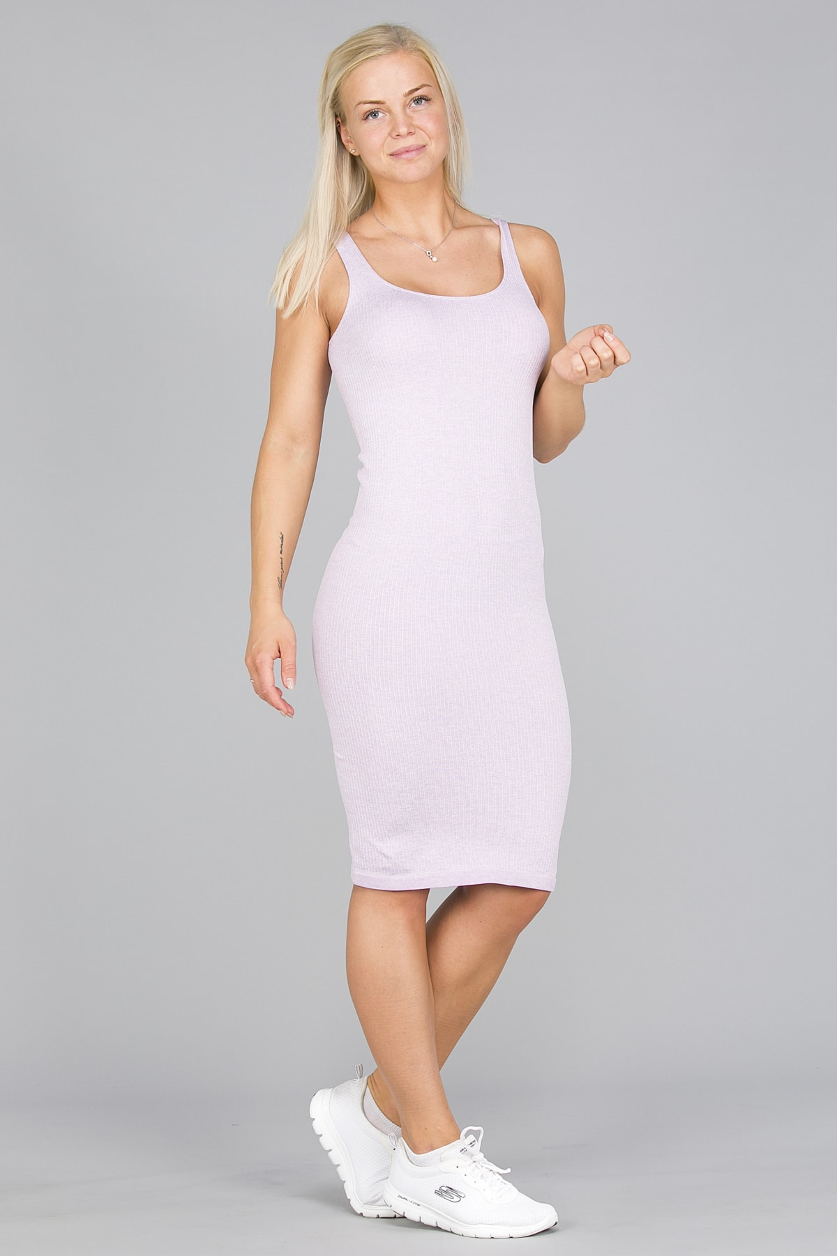 Aim'n Purple Ribbed Seamless Dress1