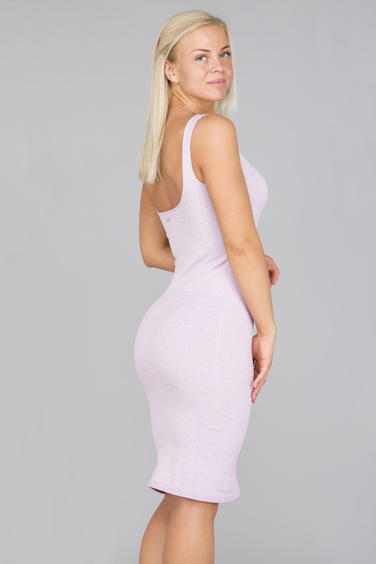 Aim'n Purple Ribbed Seamless Dress2