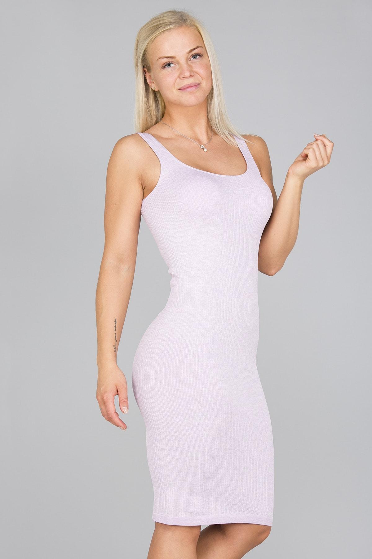 Aim'n Purple Ribbed Seamless Dress3