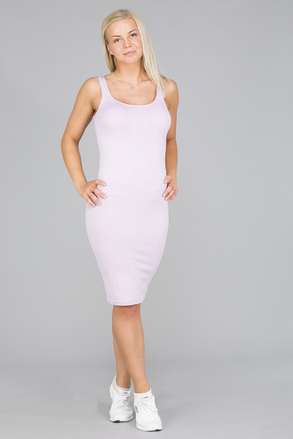 Aim'n Purple Ribbed Seamless Dress7