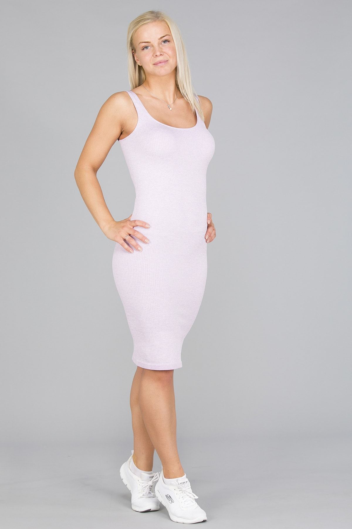 Aim'n Purple Ribbed Seamless Dress9