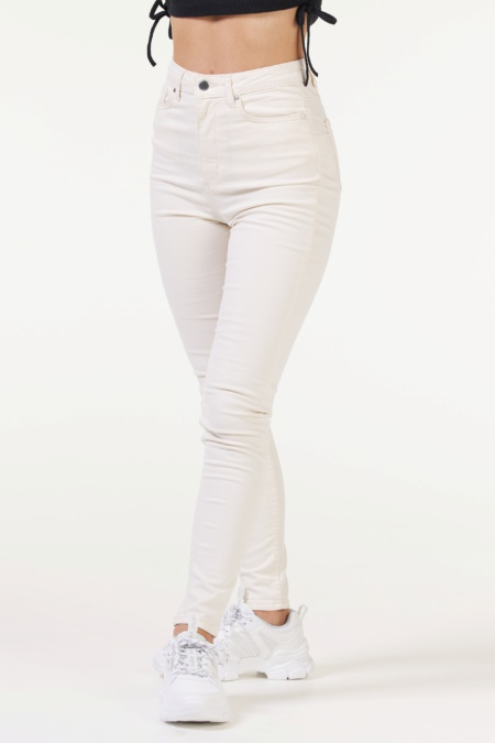 Frill Jeans Off-White