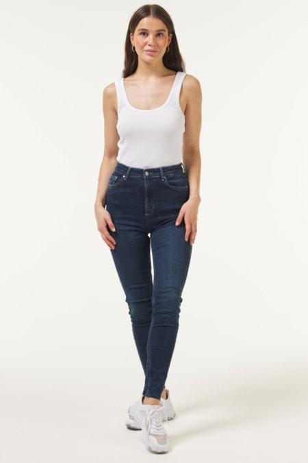 Frill Jeans Dark Blue