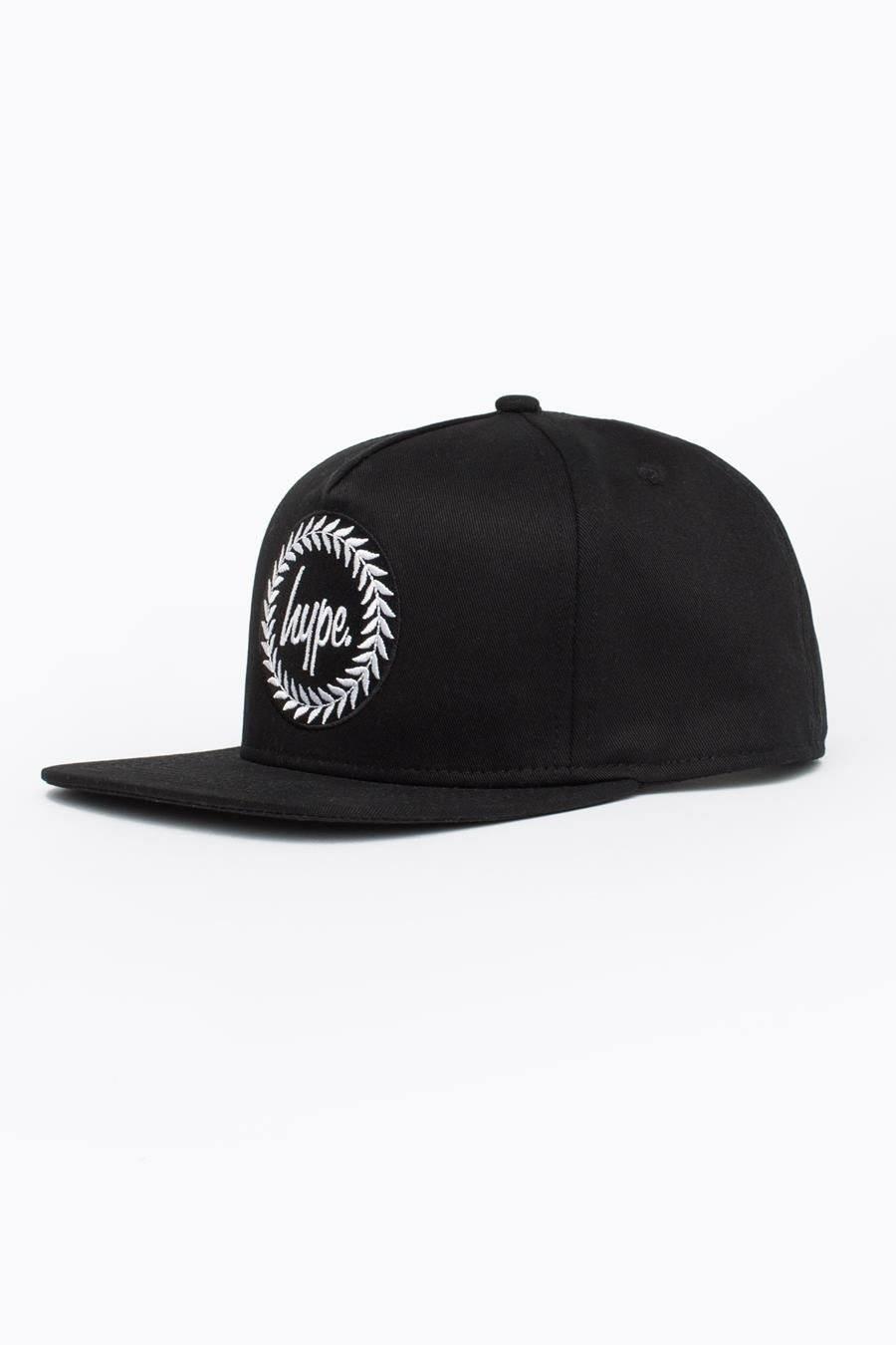 HYPE Black Crest Snapback Hat