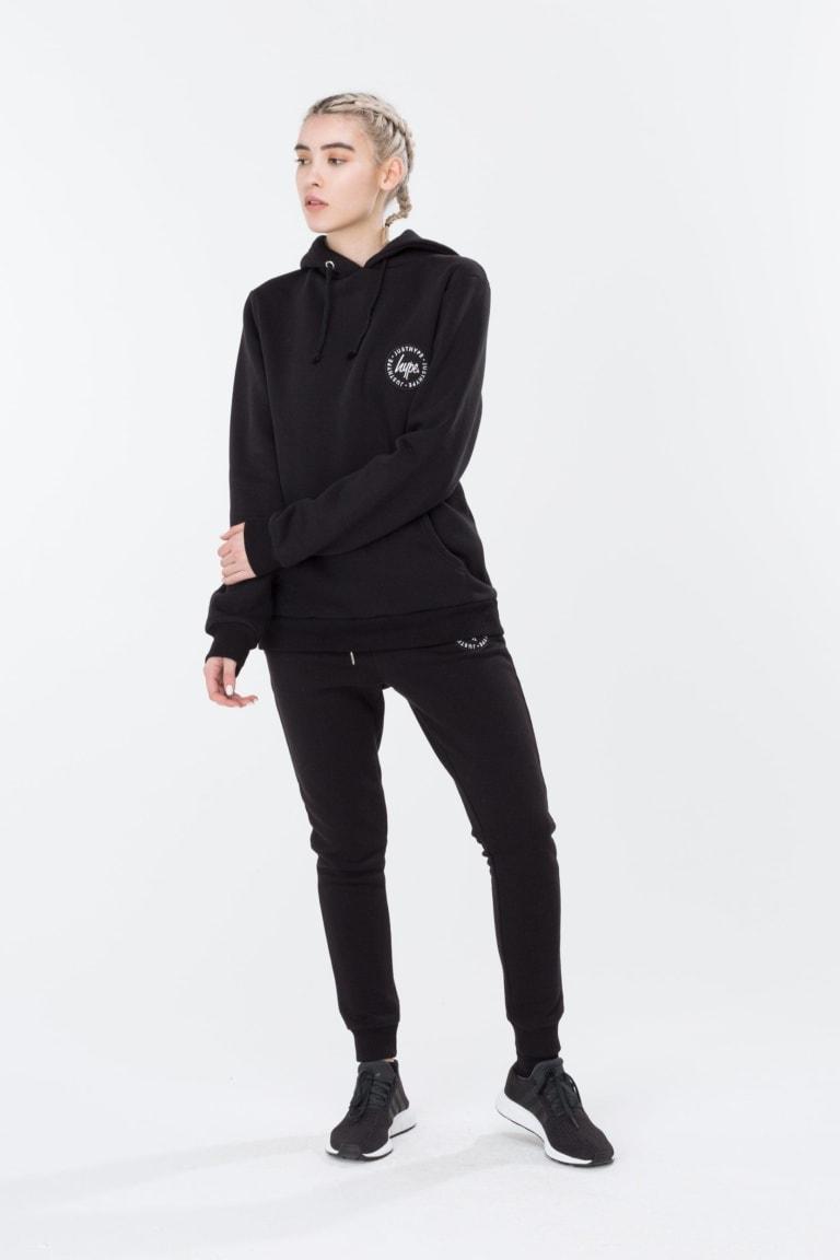 HYPE Black Crest Women's Pullover Hoodie