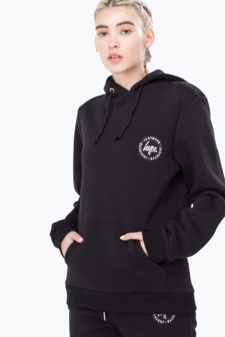 HYPE Black Crest Women's Pullover Hoodie