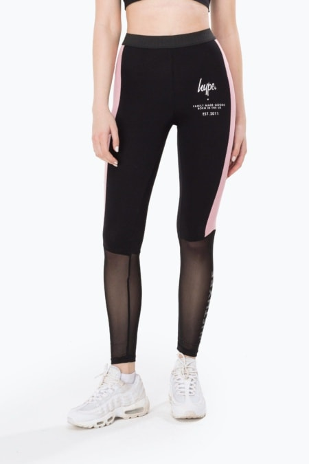 HYPE Black Fmg Mesh Women's Leggings