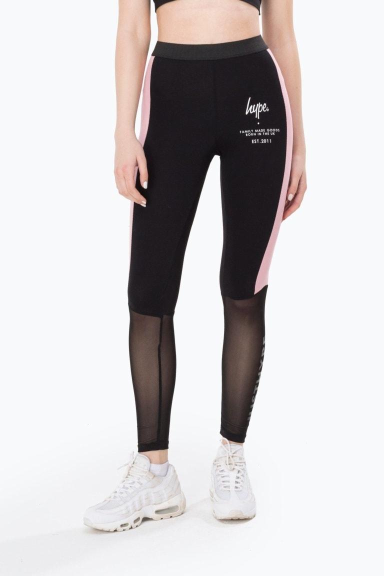 HYPE Black Fmg Mesh Women's Leggings
