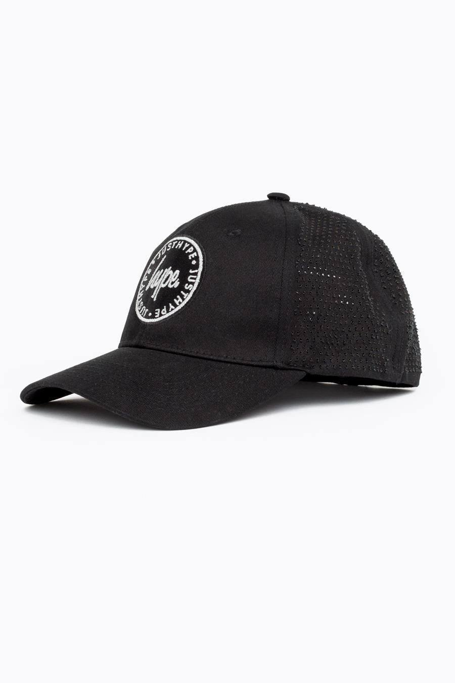 HYPE Black Laser Polka Dad Hat