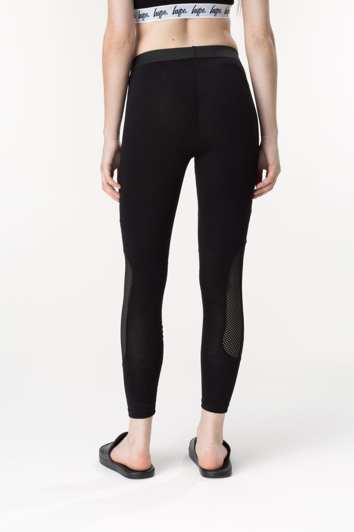 HYPE Black Mesh Women's Leggings