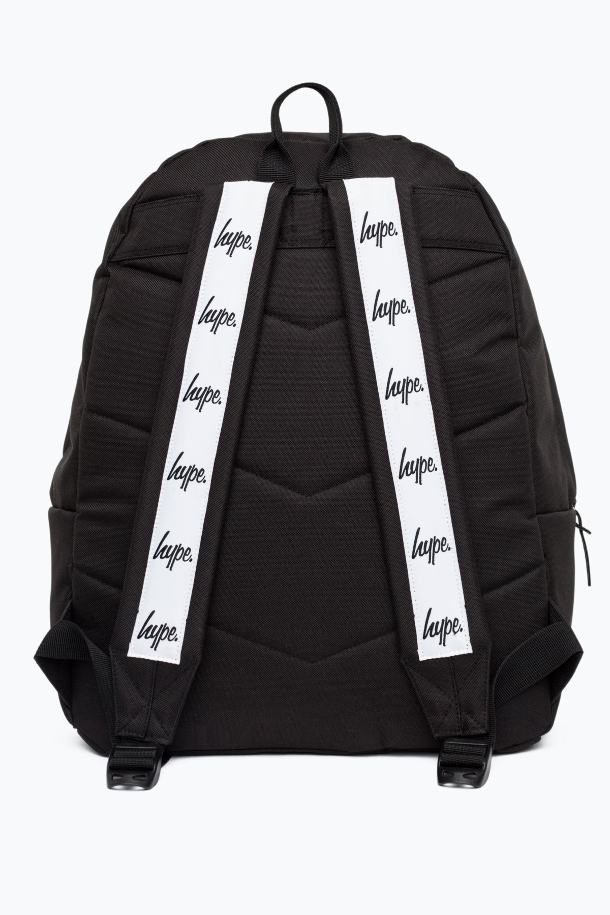 81055709 HYPE - Black Strap Tape Backpack - Weightless.no
