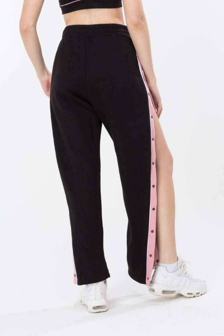 HYPE Black/Pink Popper Women's Joggers