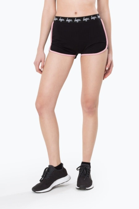 HYPE Black/Pink Running Women's Shorts