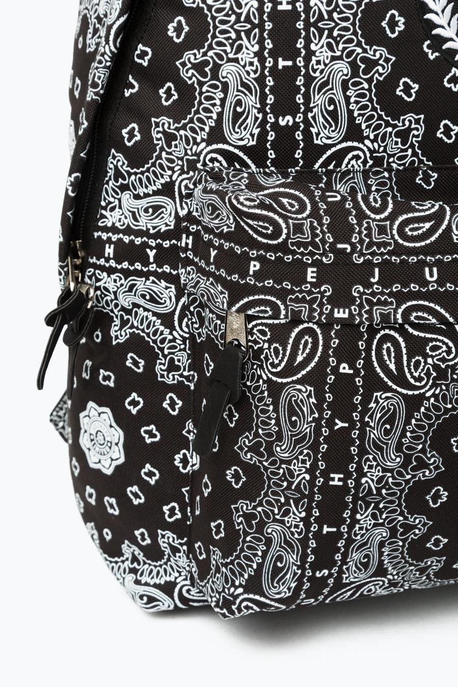 HYPE Black/White Bandana Backpack