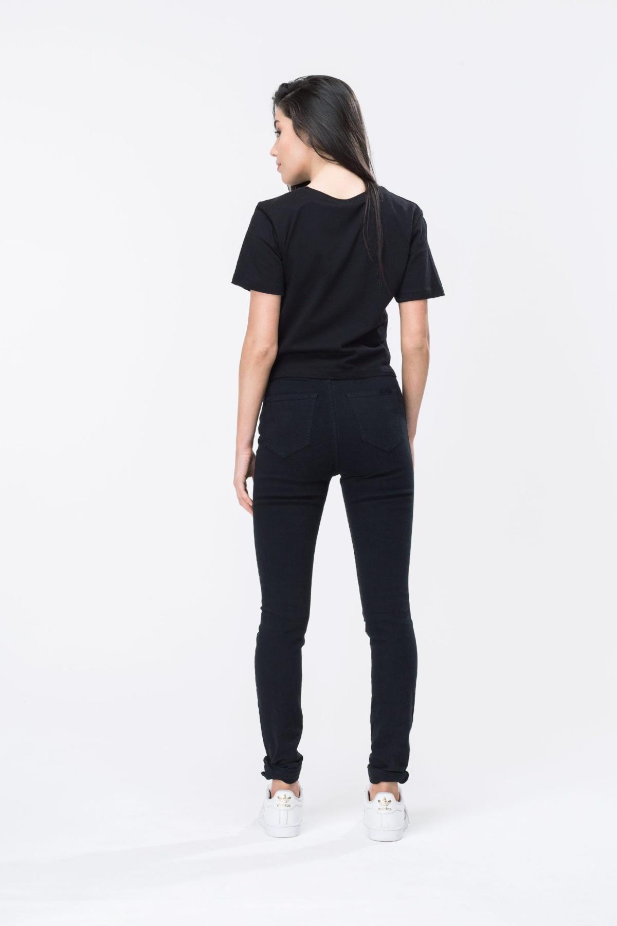 HYPE Black/White Hype Script Women's Crop T-Shirt