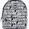 HYPE Black/White Justhype Tile Backpack