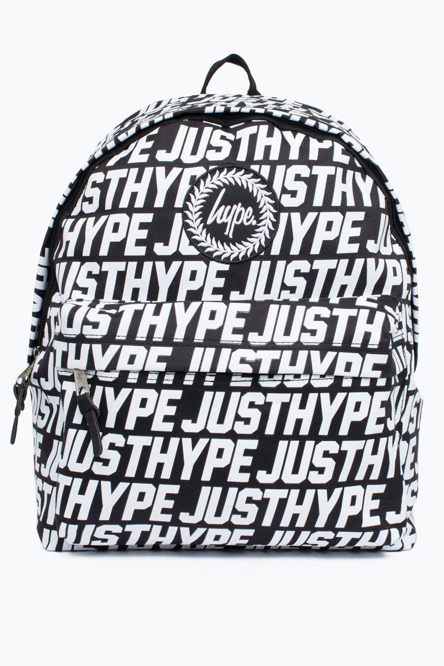 HYPE Black/White Justhype Tile Backpack