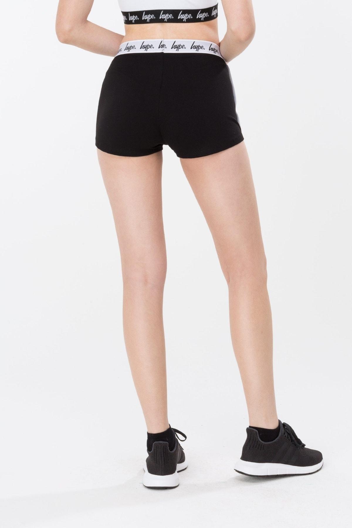 HYPE Black/White Mono Running Women's Shorts