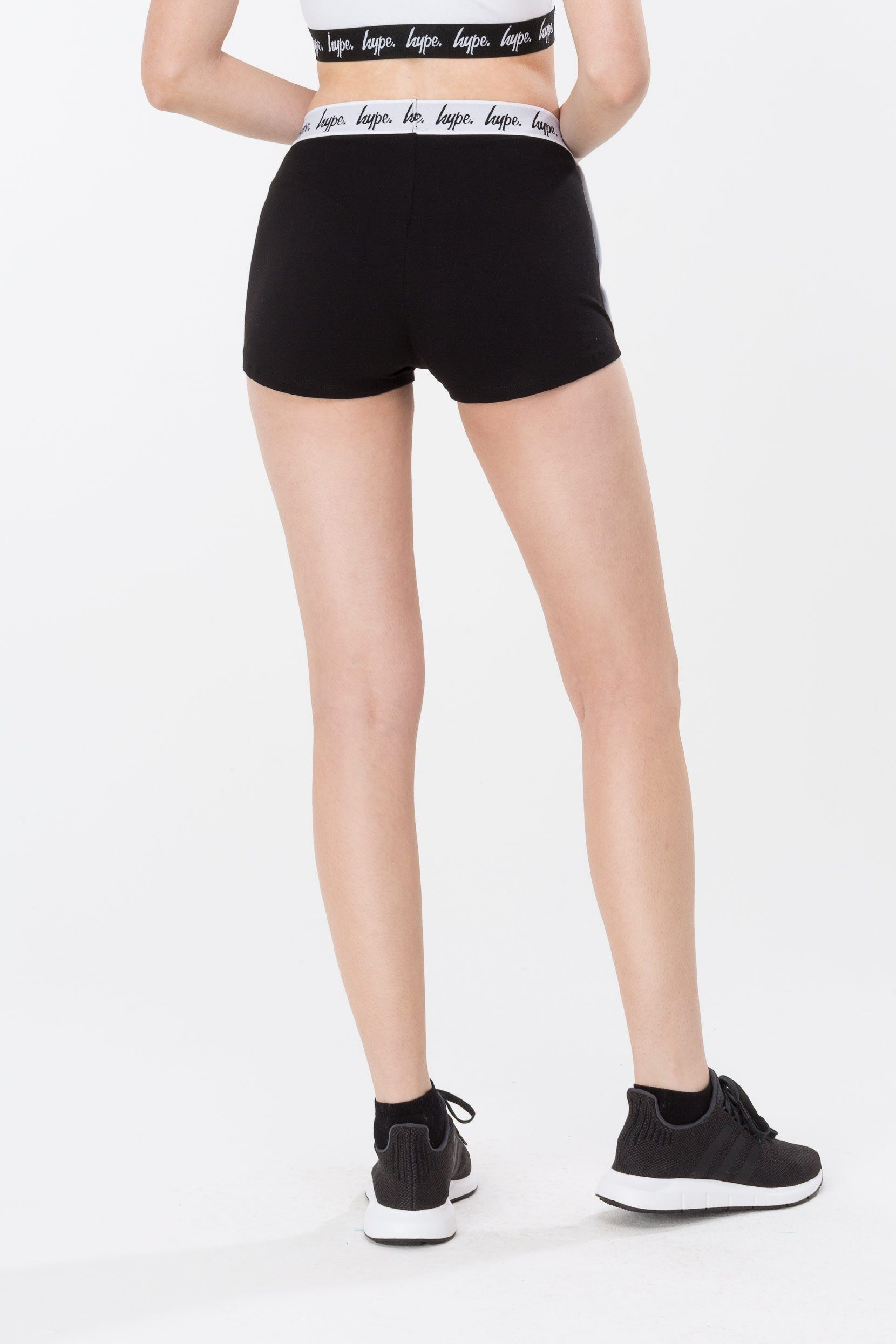 HYPE Black/White Mono Running Women's Shorts