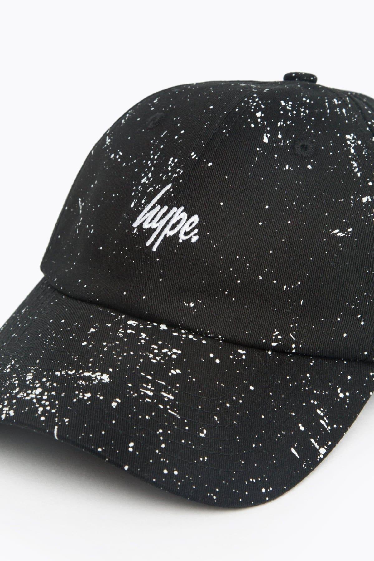 HYPE Black/White Script Speckle Dad Hat