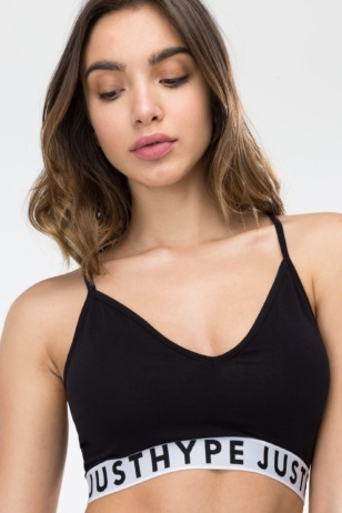 HYPE Black/White Taping Women's Bra
