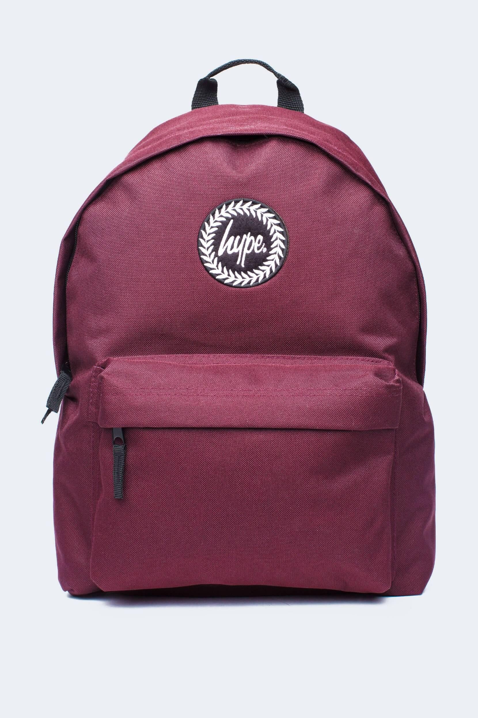 HYPE Burgundy Badge Backpack