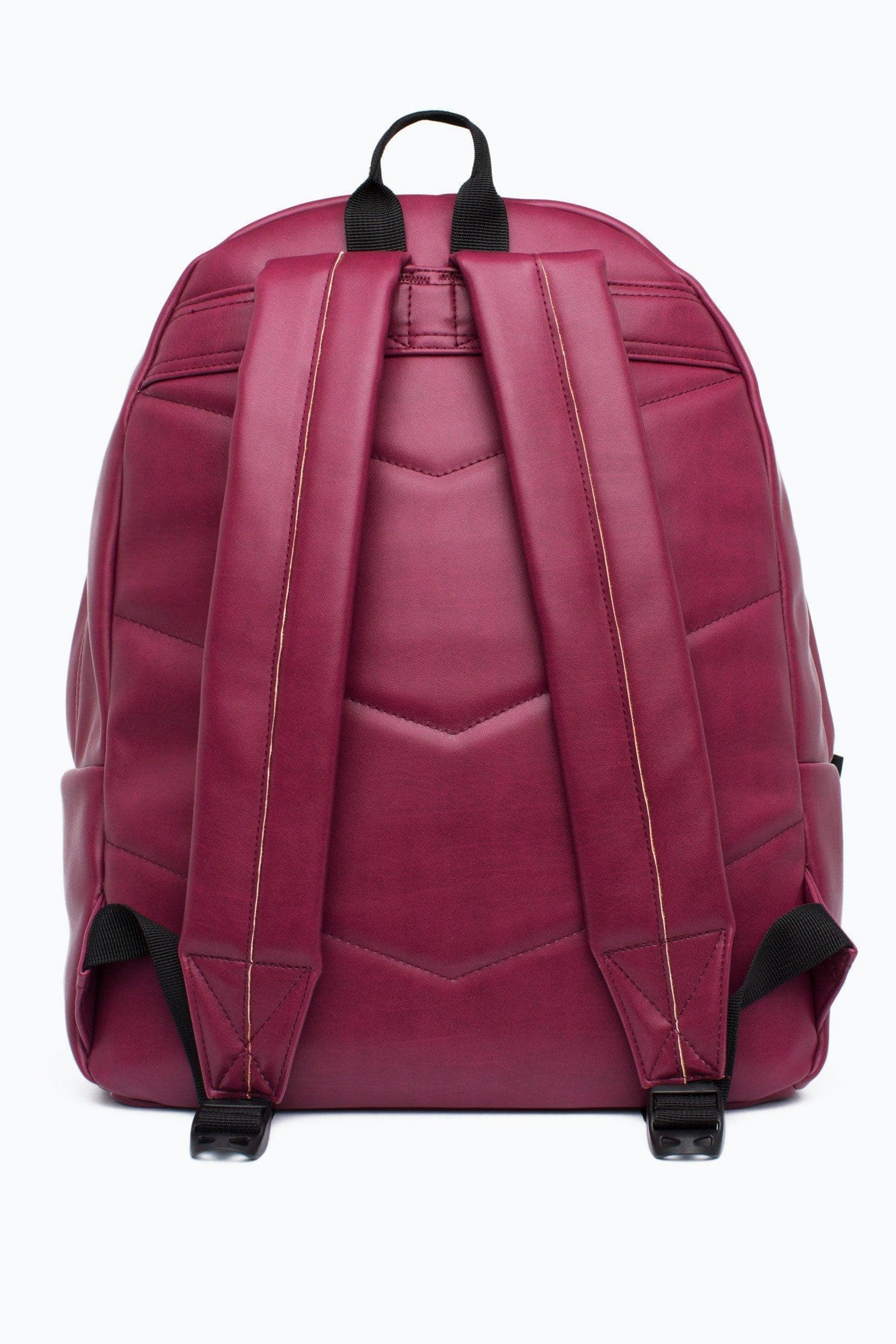 HYPE Burgundy Embossed Script Backpack