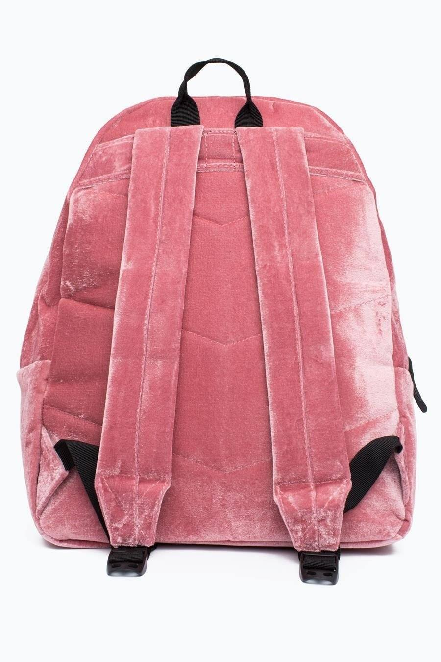 HYPE Dusty Pink Velour Backpack