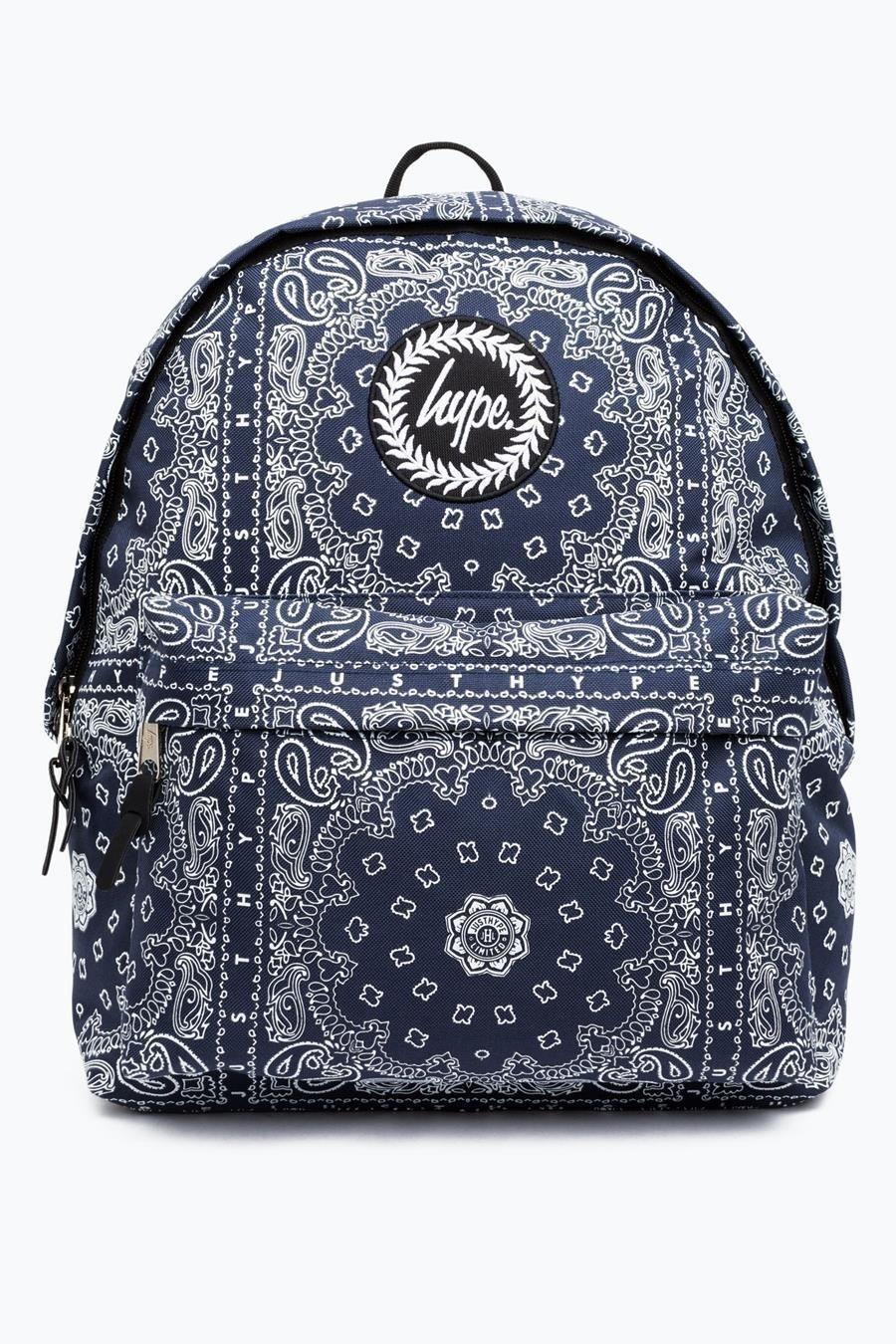 HYPE Navy/White Bandana Backpack