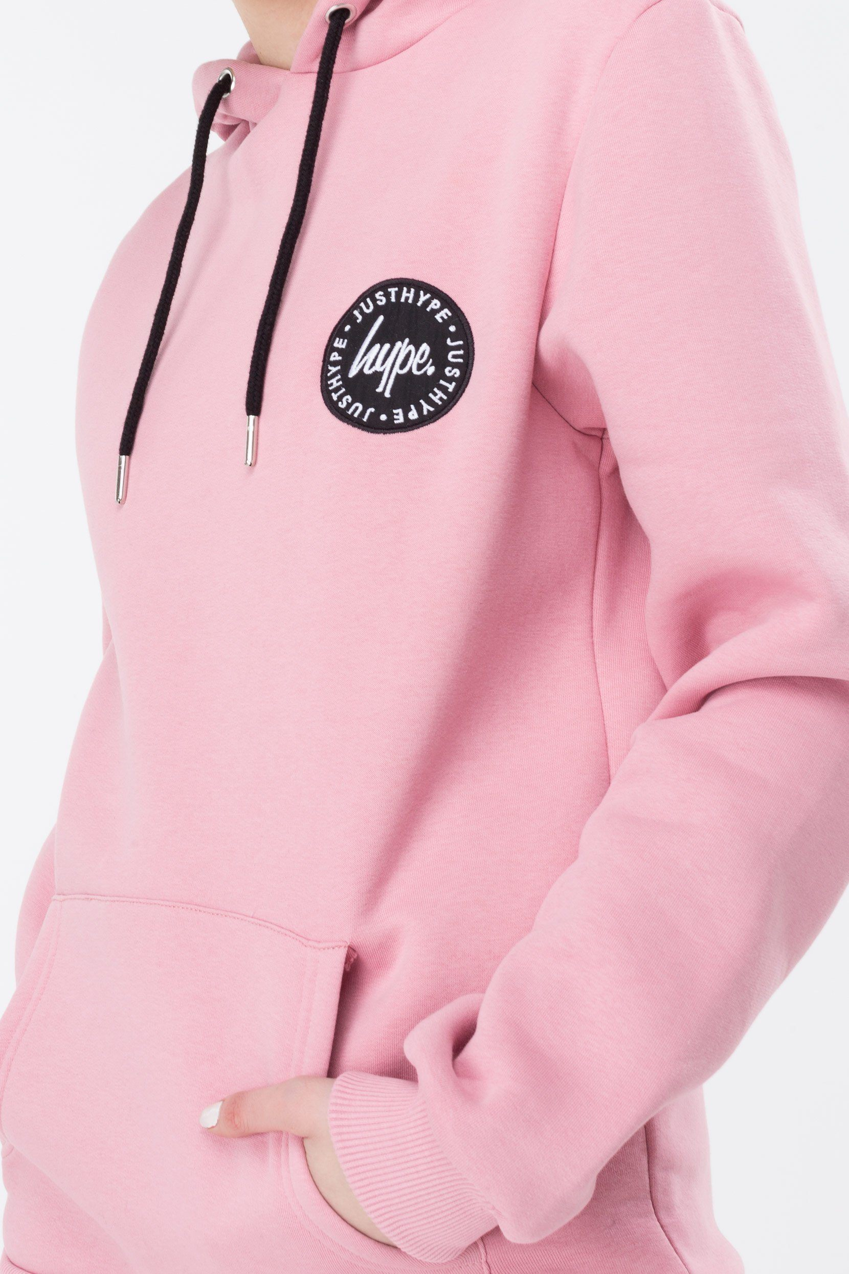 HYPE Pink Crest Women's Pullover Hoodie