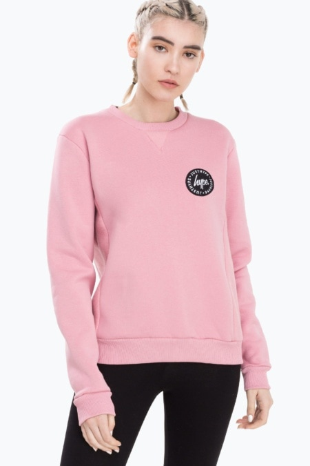 HYPE Pink Panel Women's Crewneck