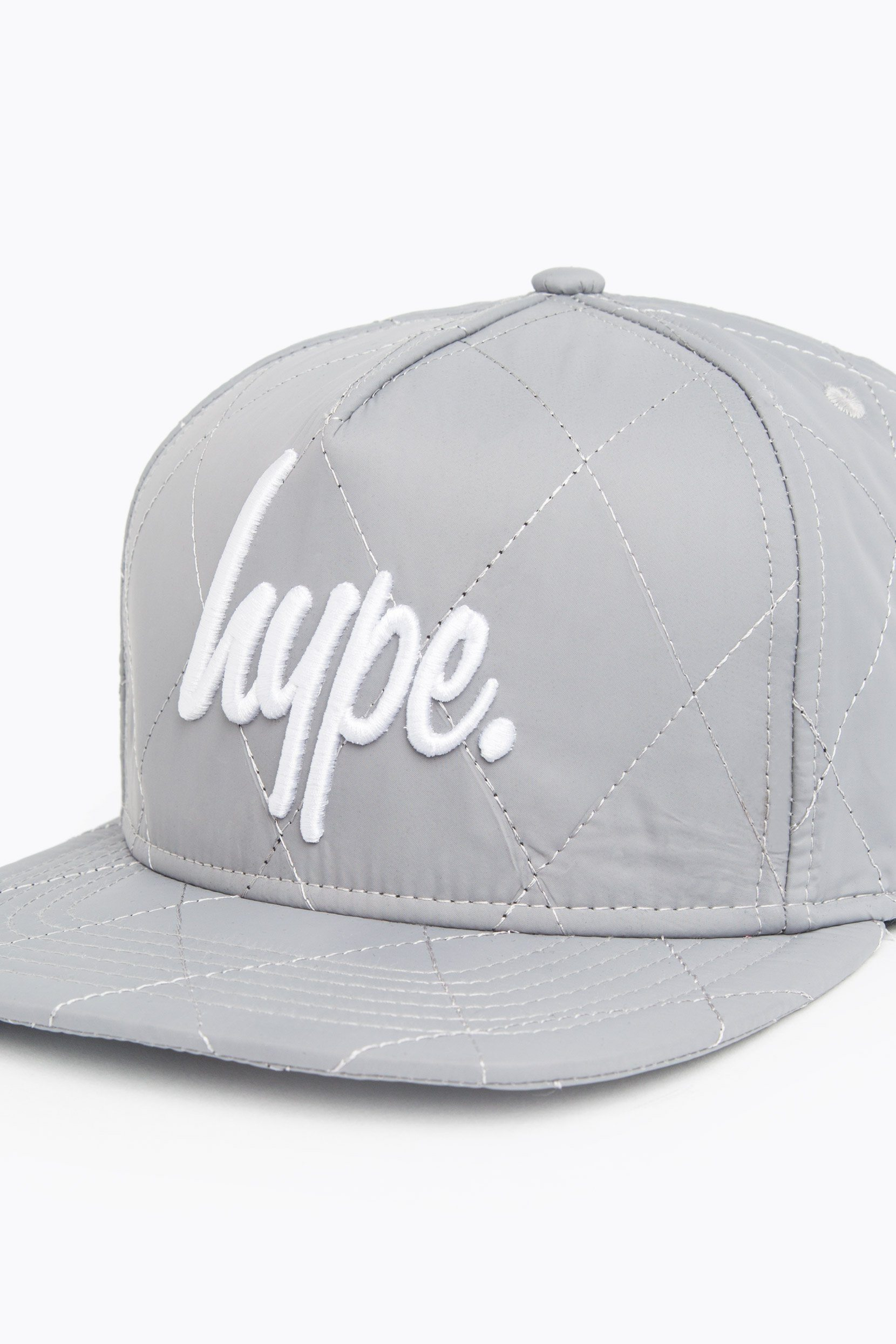 HYPE Reflective/White Quilted Reflective Snapback Hat