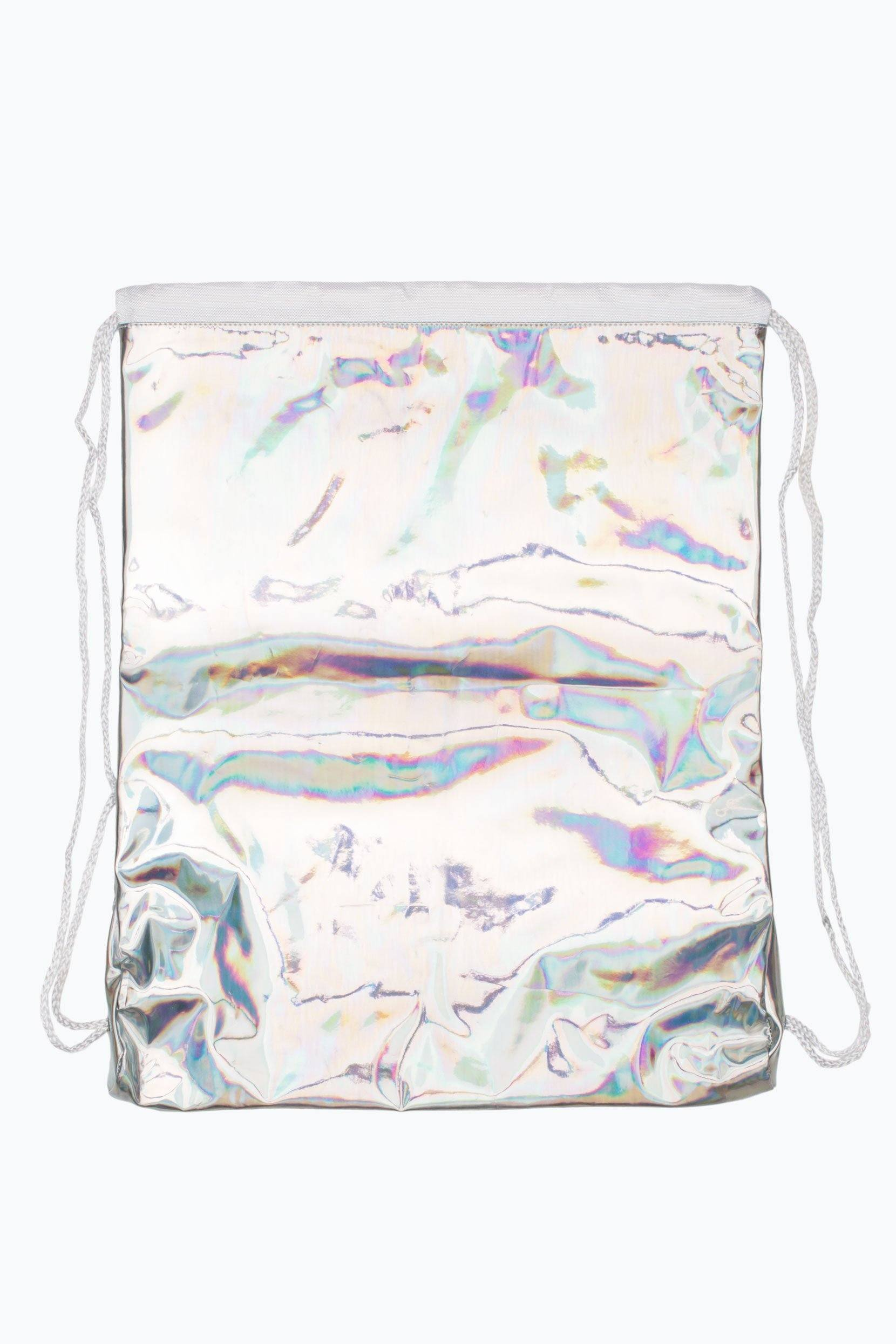 HYPE Silver Holographic Drawstring