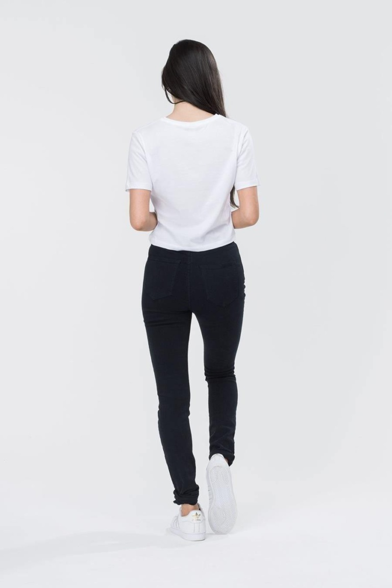HYPE White/Black Hype Script Women's Crop T-Shirt
