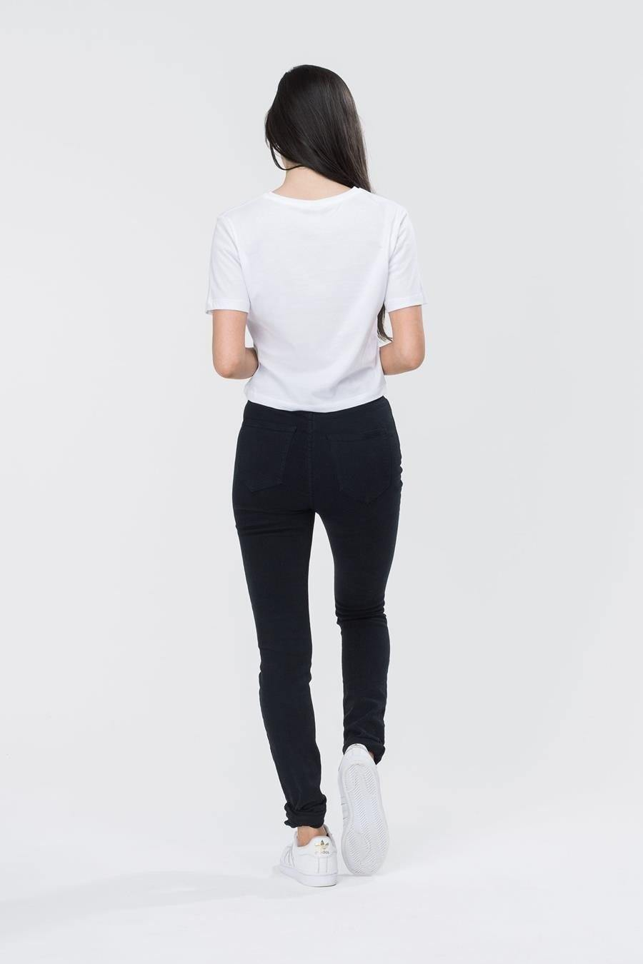 HYPE White/Black Hype Script Women's Crop T-Shirt
