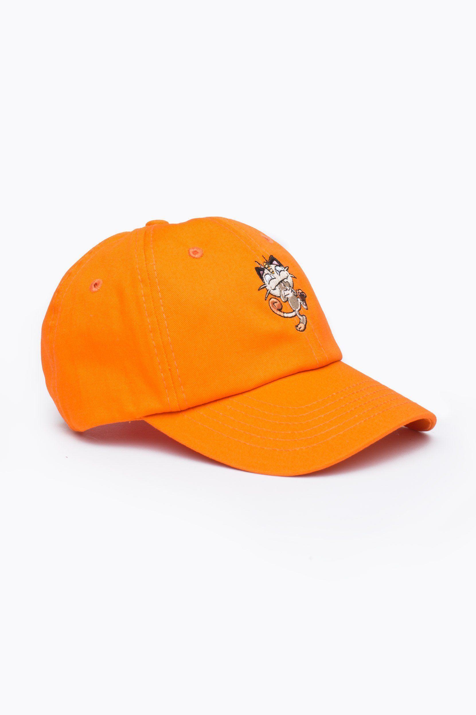 HYPE X Pokemon Orange Meowth Dad Hat