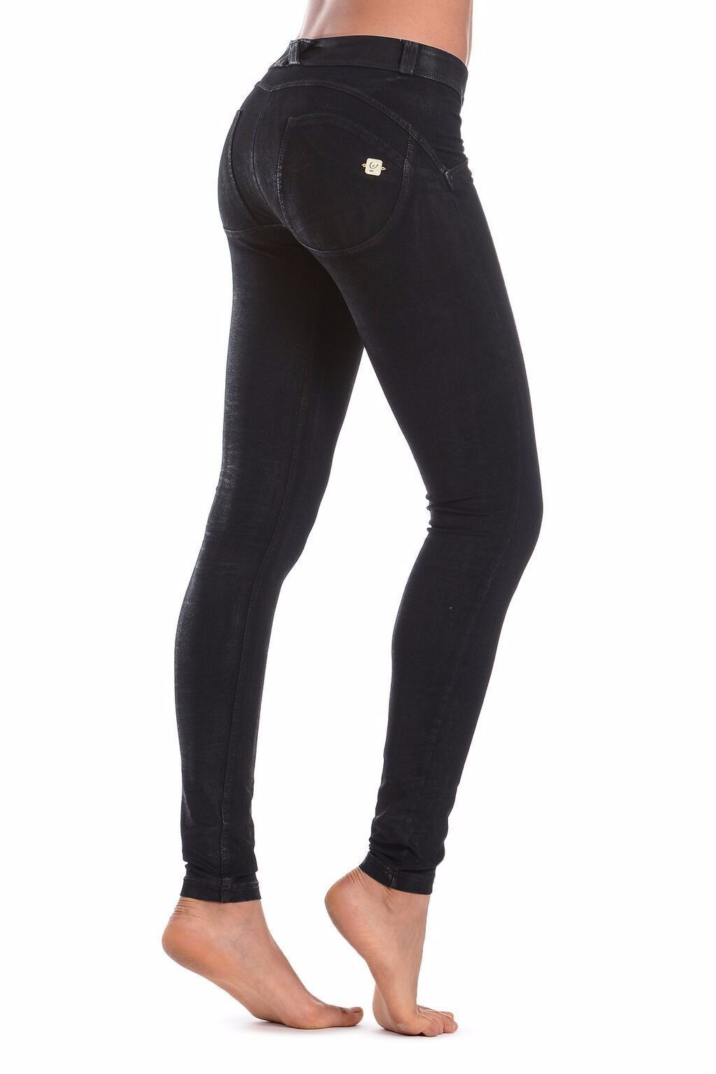 WR.UP® Shaping Jeans Skinny Low Coated Black