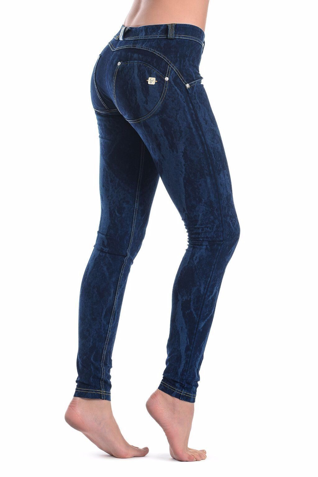 WR.UP® Shaping Jeans Skinny Low Dye Bleed Dark Blue