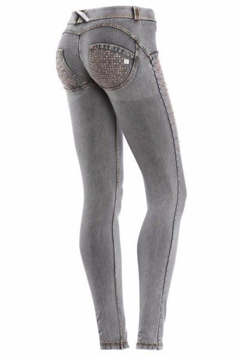 WR.UP® Shaping Jeans Skinny Low Swarovski Grey