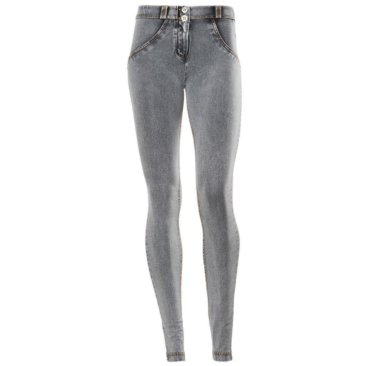 WR.UP® Shaping Jeans Skinny Mid Ash Grey + Yellow Stitching