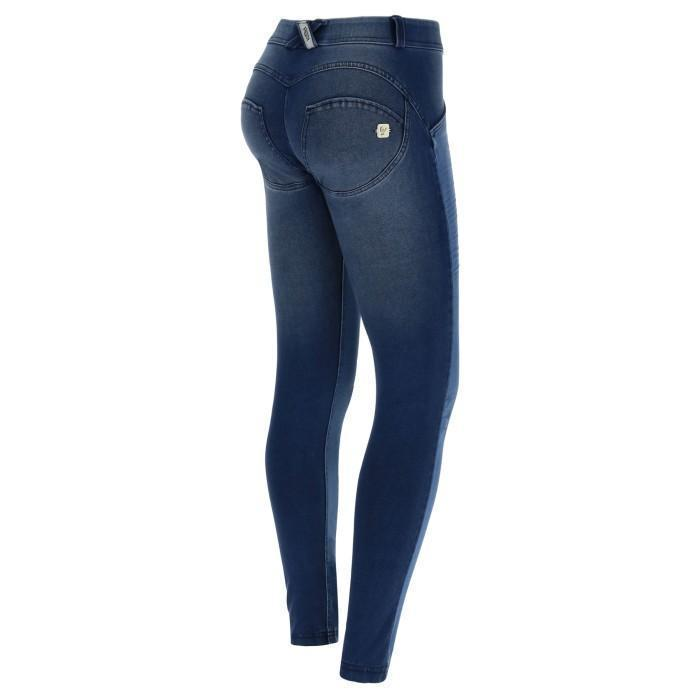 WR.UP® Shaping Jeans Skinny Mid Dark Blue + Crinkle Effect