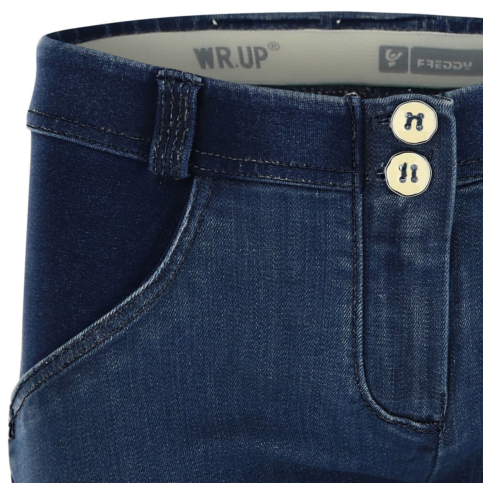 WR.UP® Shaping Jeans Skinny Mid Distressed Denim Front Dark Blue