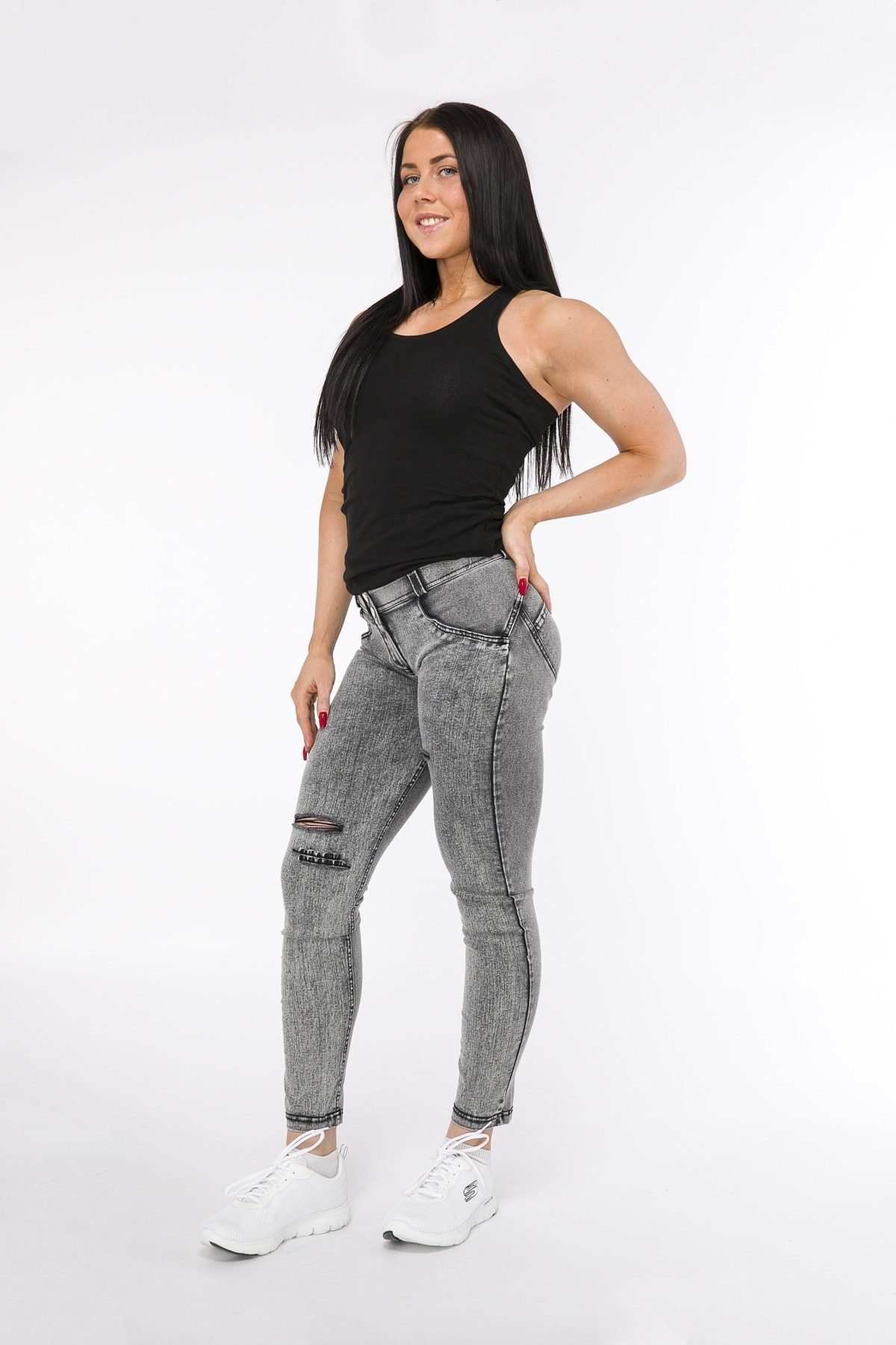 WR.UP® Shaping Jeans Skinny Mid Grey
