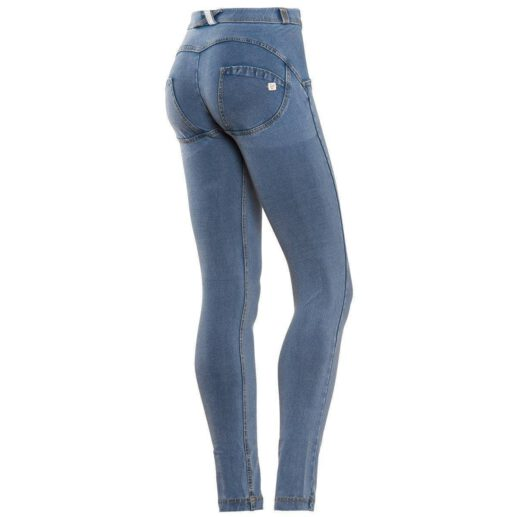 WR.UP® Shaping Jeans Skinny Mid Light Blue + Yellow Stitching