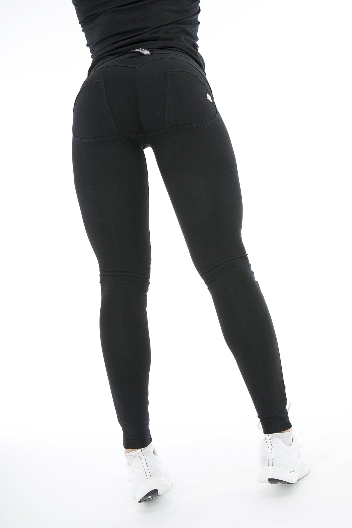 WR.UP® Shaping Jeans Skinny Mid Ripped Black