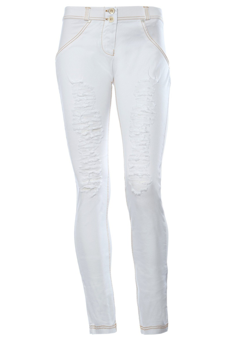 WR.UP® Shaping Jeans Skinny Mid Ripped Denim Front White