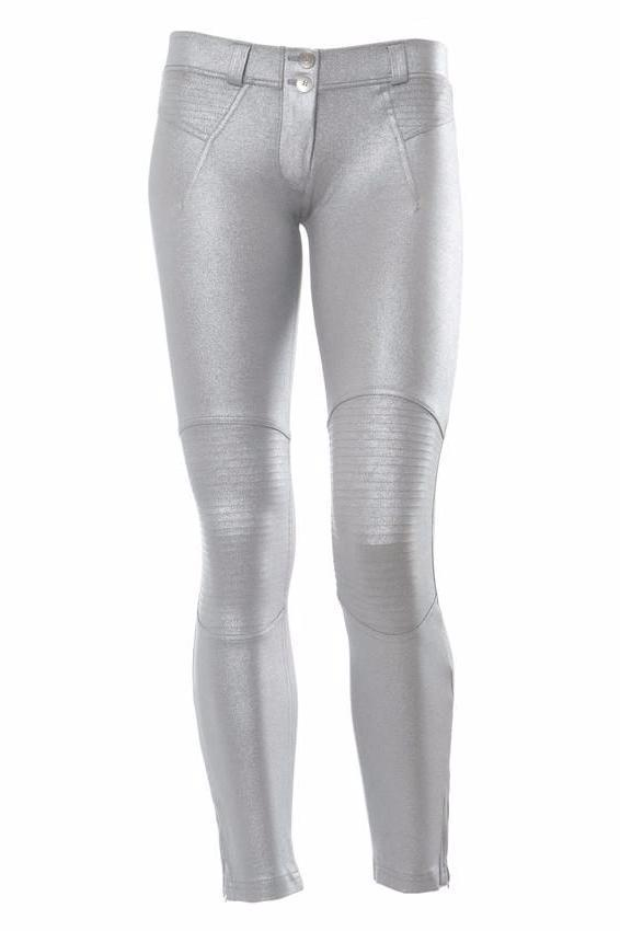 WR.UP® Shaping Pants Ankle Zip Low Biker Silver
