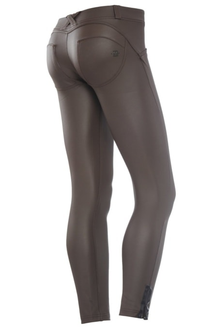 WR.UP® Shaping Pants Ankle Zip Low Vegan Leather Brown